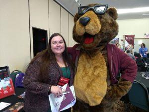 Petey K. Bear is in the house!